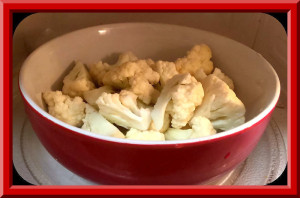 Cauliflower Florets cut into bite size pieces