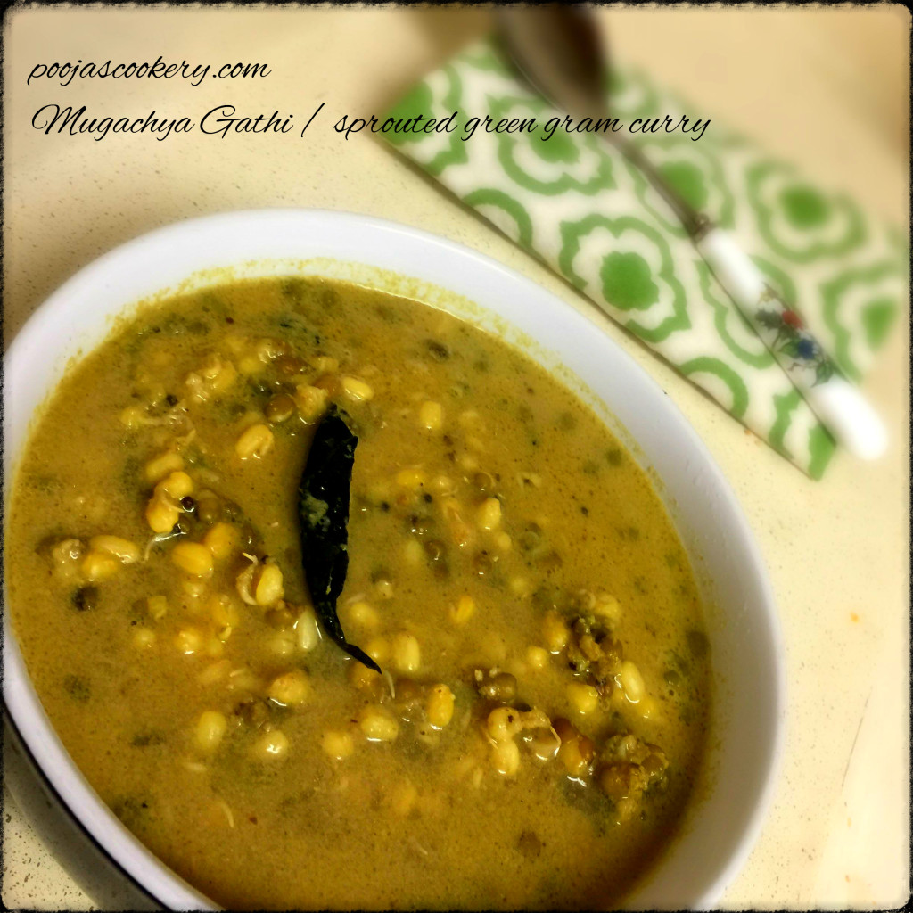 Mugachya Gathi / sprouted green gram curry | poojascookery.com