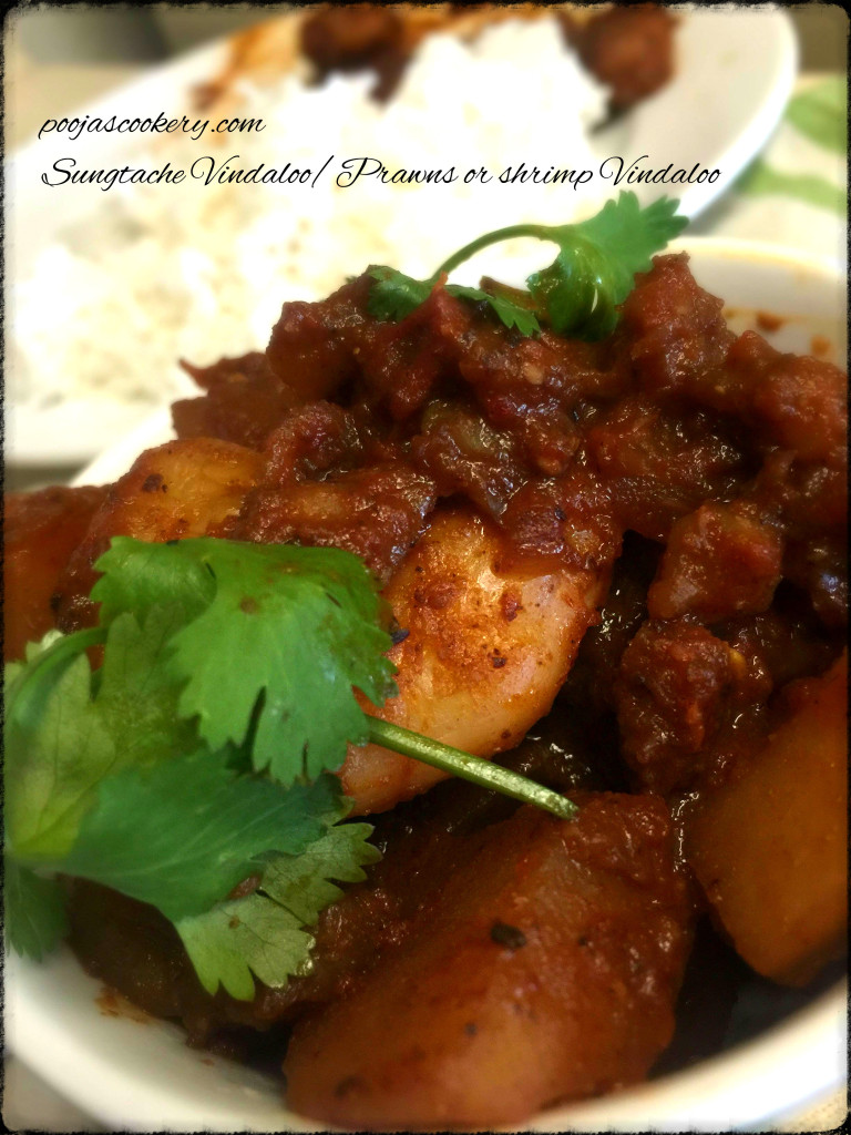 Sungtache Vindaloo/Prawns or shrimp Vindaloo | poojascookery.com