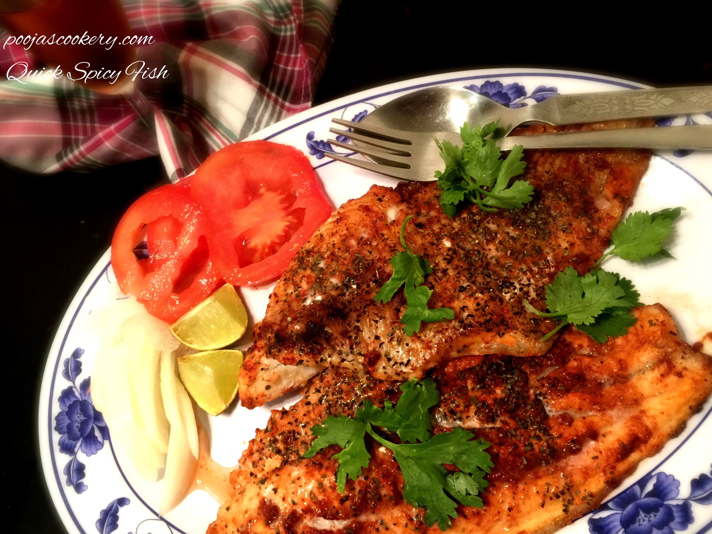 Quick Spicy Fish| poojascookery.com