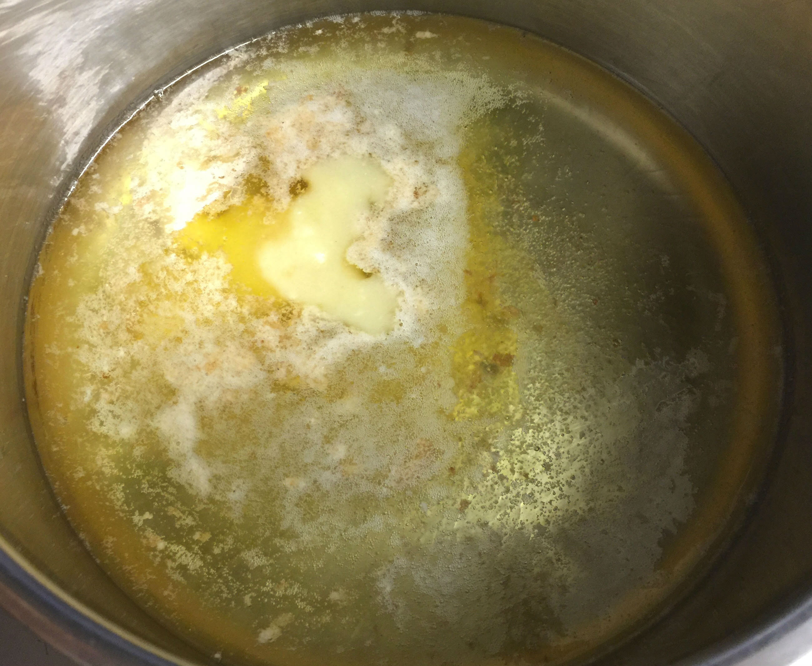 Melting ghee with oil