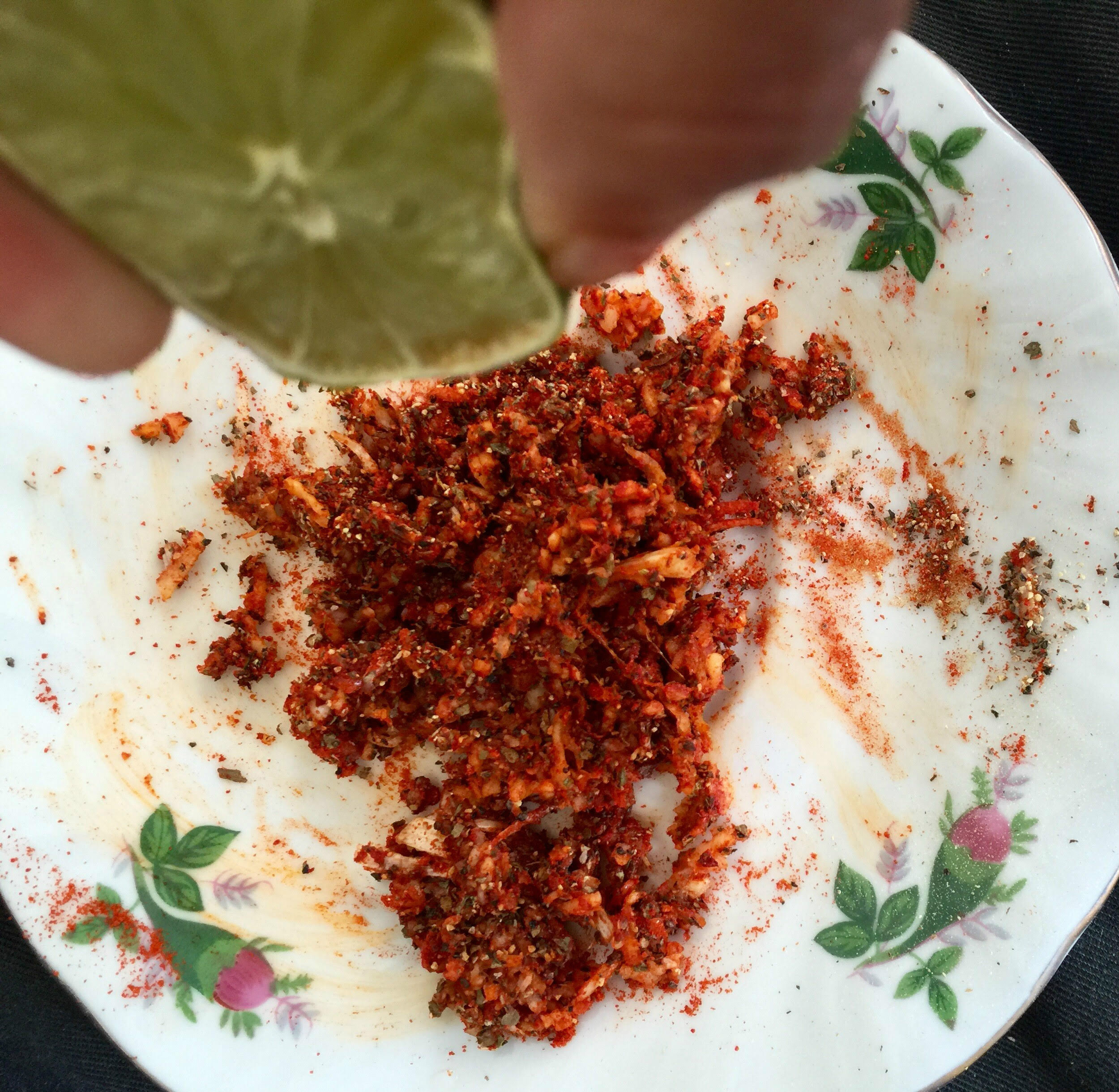 Mix Marinade spices and add lime juice