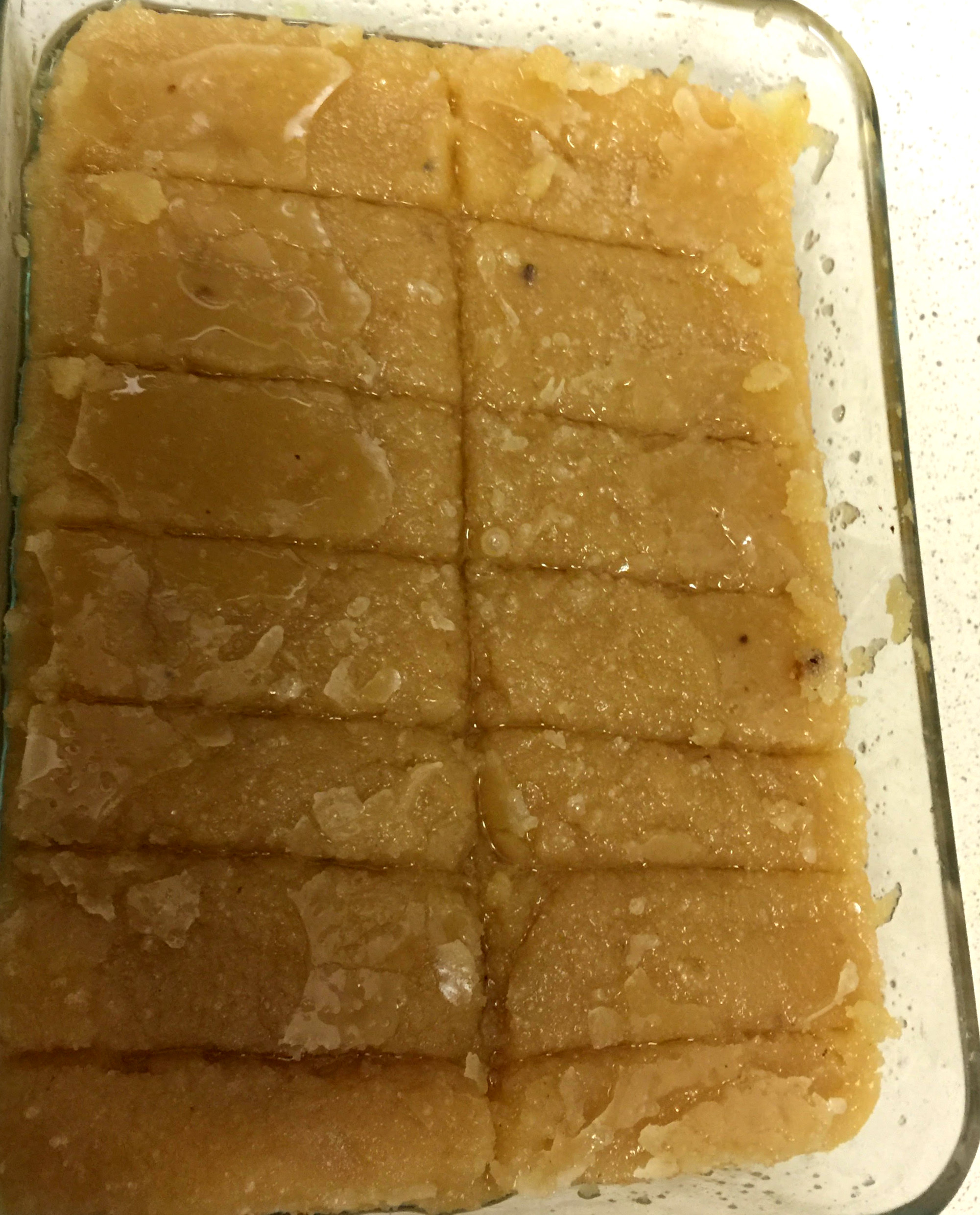 Cuts made for mysore pak
