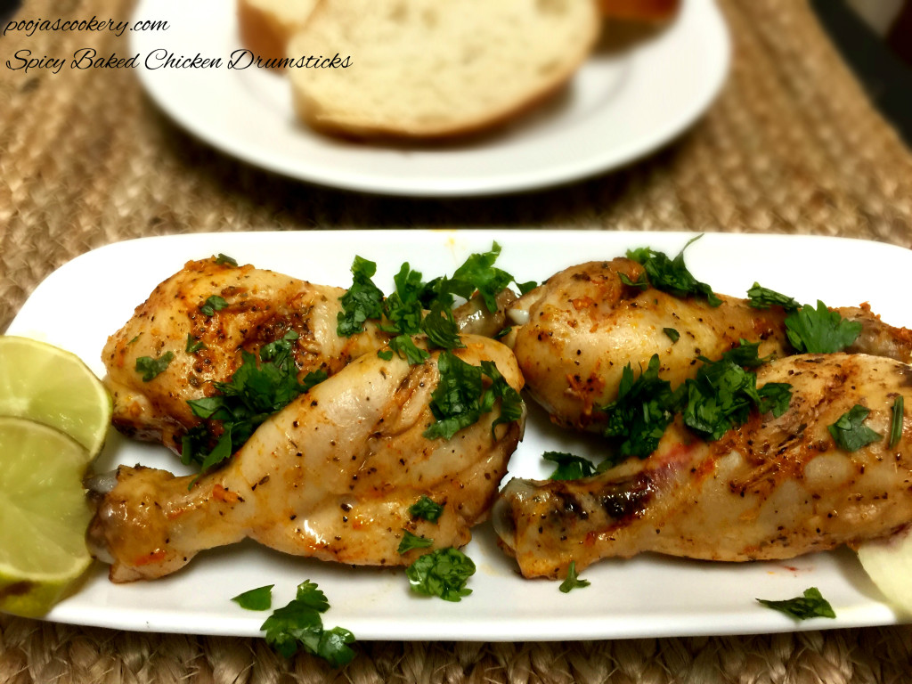Spicy Baked Chicken Drumsticks |poojascookery.om