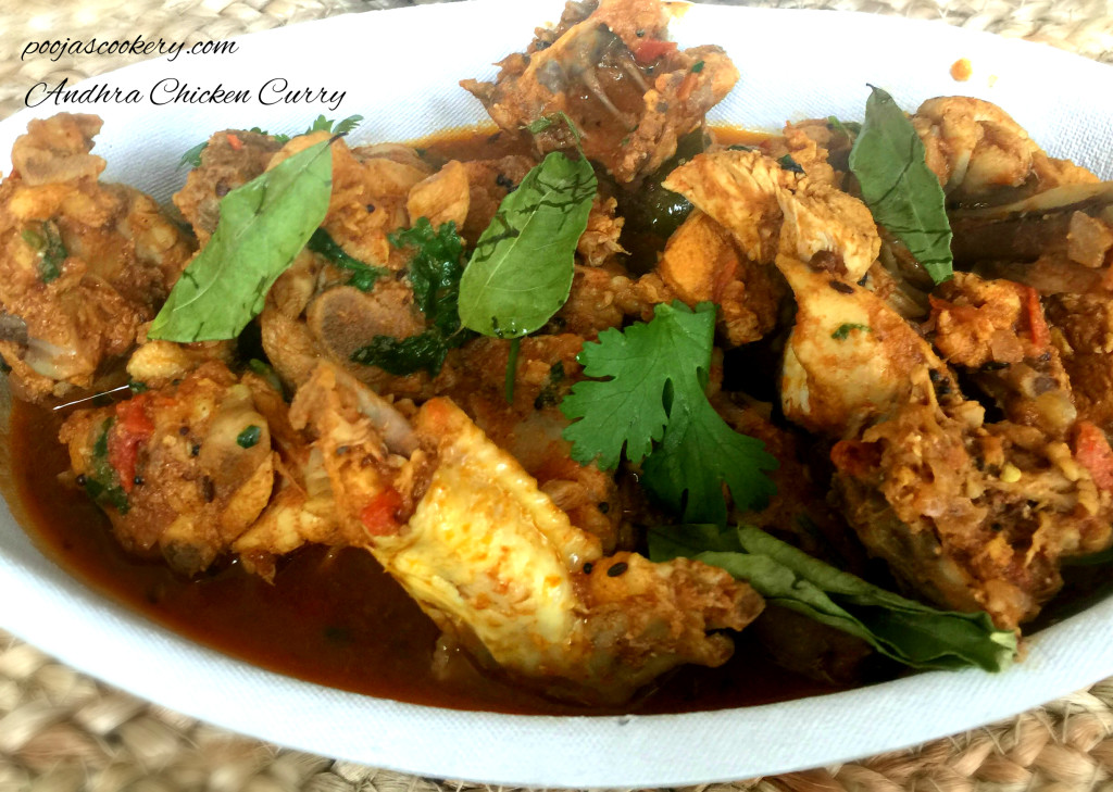 Andhra Chicken Curry | poojascookery.com