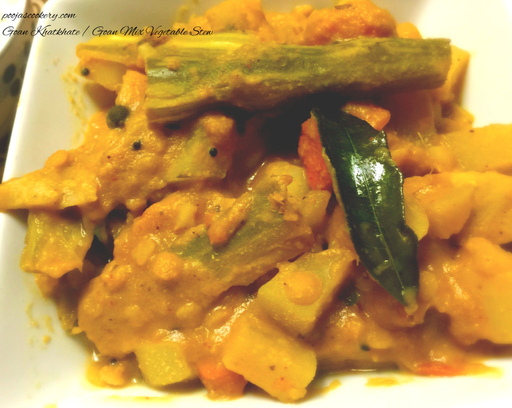 Goan Khatkhate / Goan Mix Vegetable Stew | poojascookery.com