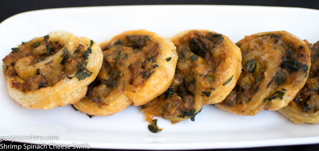 Shrimp Spinach Cheese Swirls | poojascookery.com
