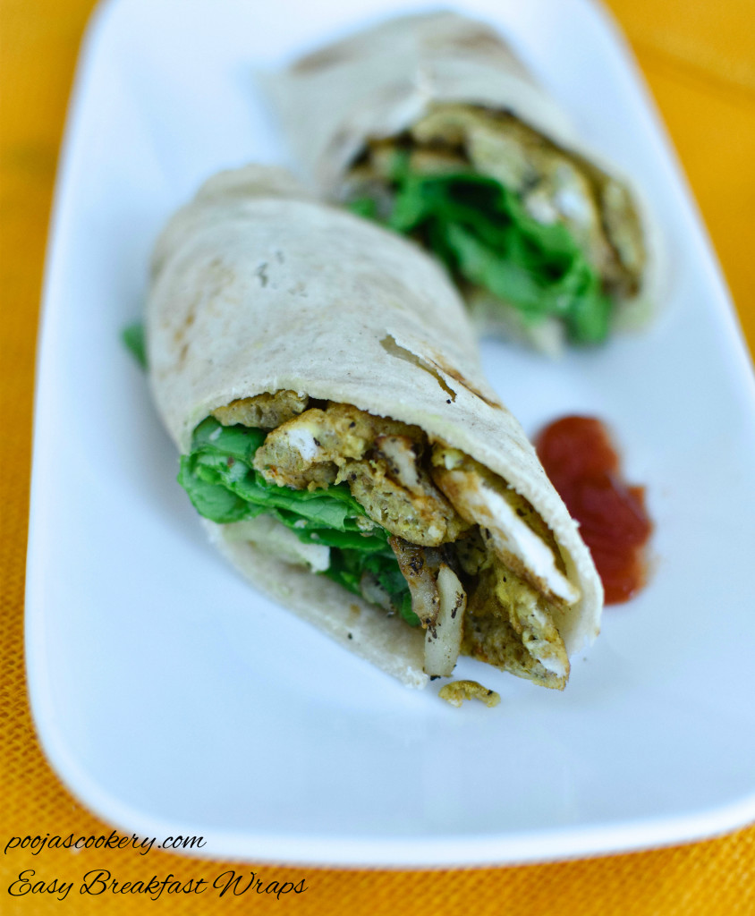 Easy Breakfast Wraps | poojascookery.com