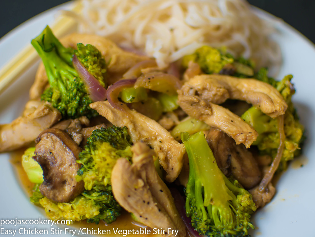 Easy Chicken Stir Fry /Chicken Vegetable Stir Fry | poojascookery.com