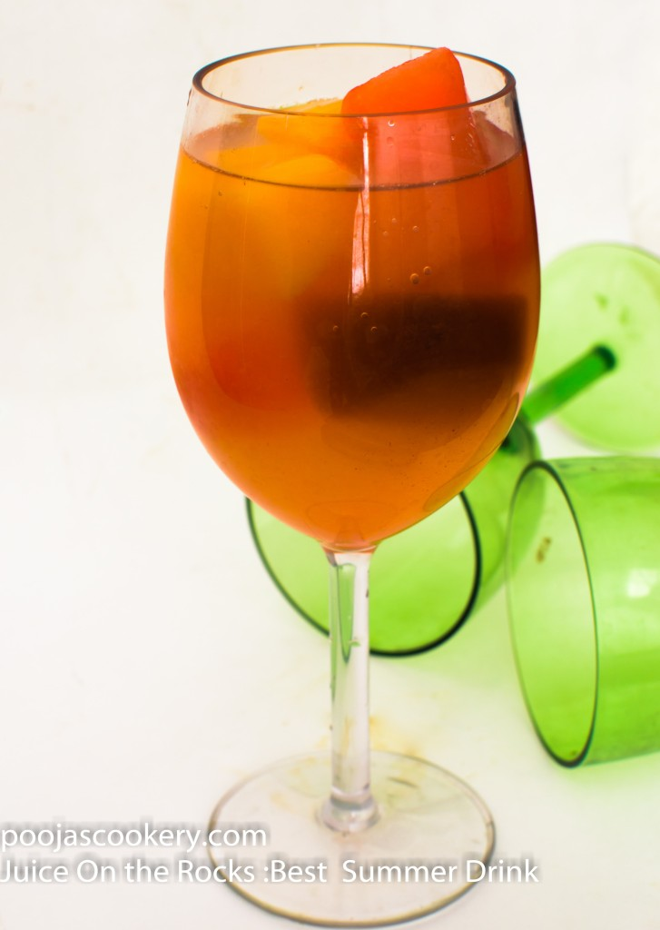 Juice On the Rocks :Best Summer Drink | poojascookery.com