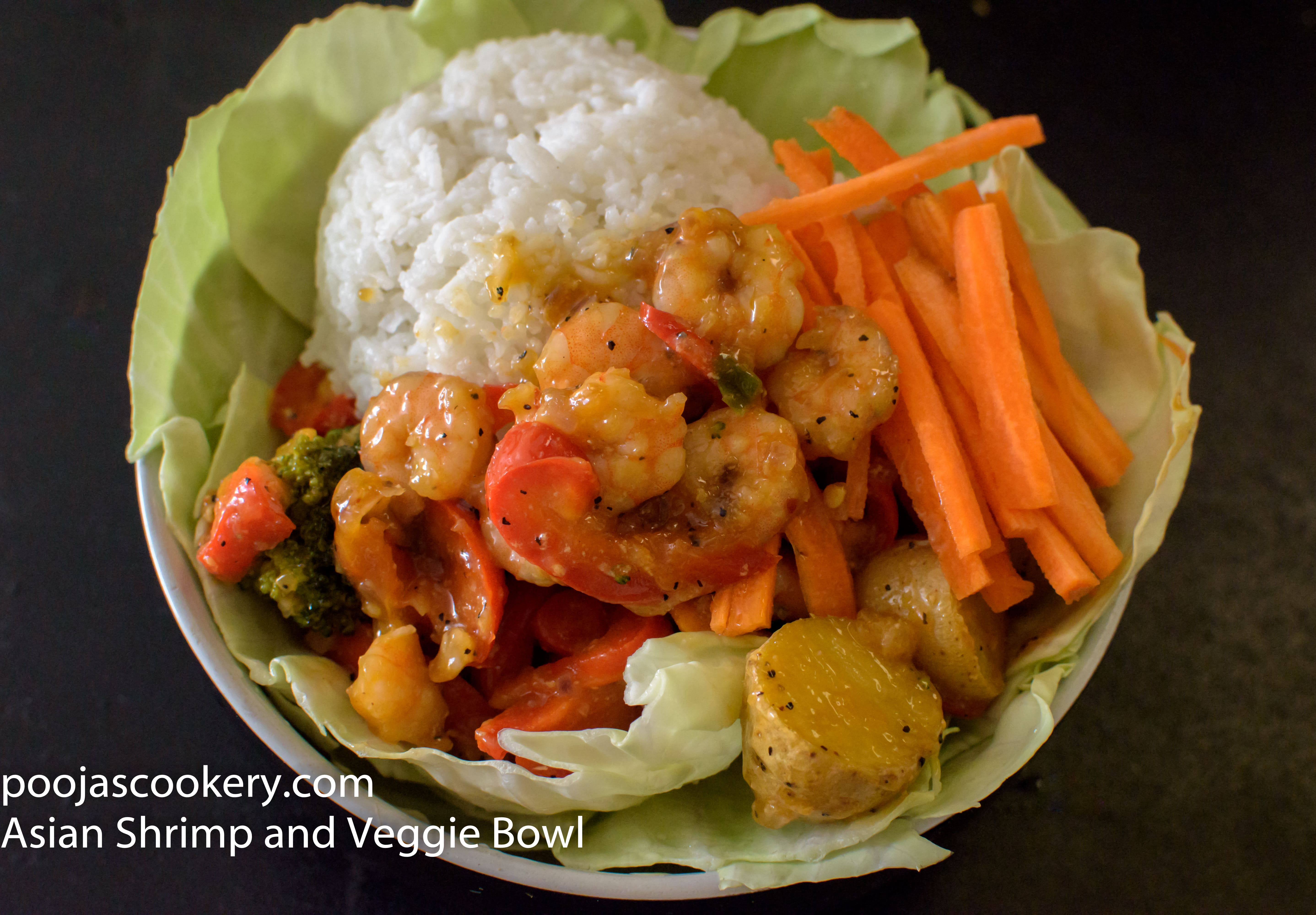 Asian Shrimp Veggie Bowl
