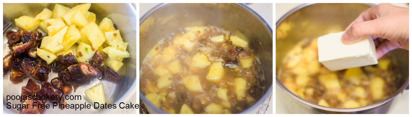 Pineapple+Dates are boiled and butter added | poojascookery.com
