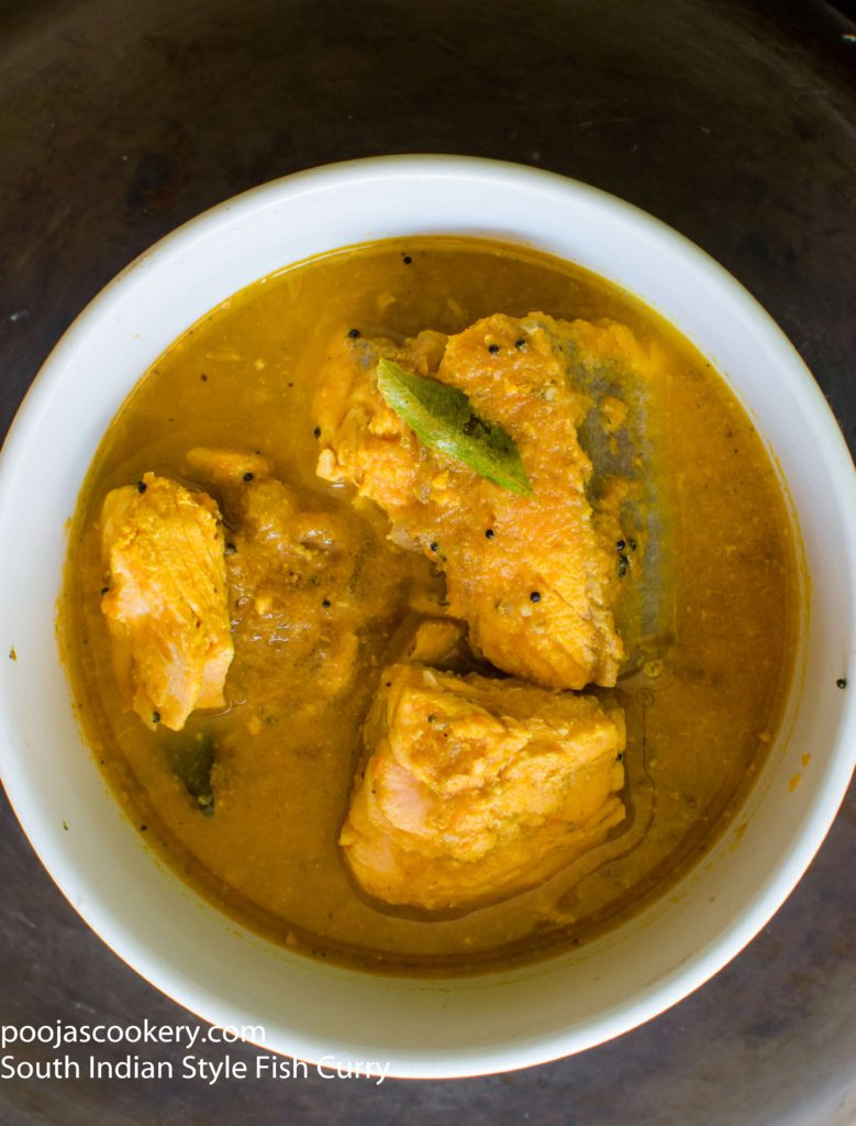 South Indian Style Fish Curry | poojascookery.com