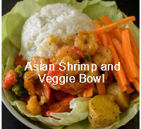 Asian Shrimp and Veggie Bowl| poojascookery.com