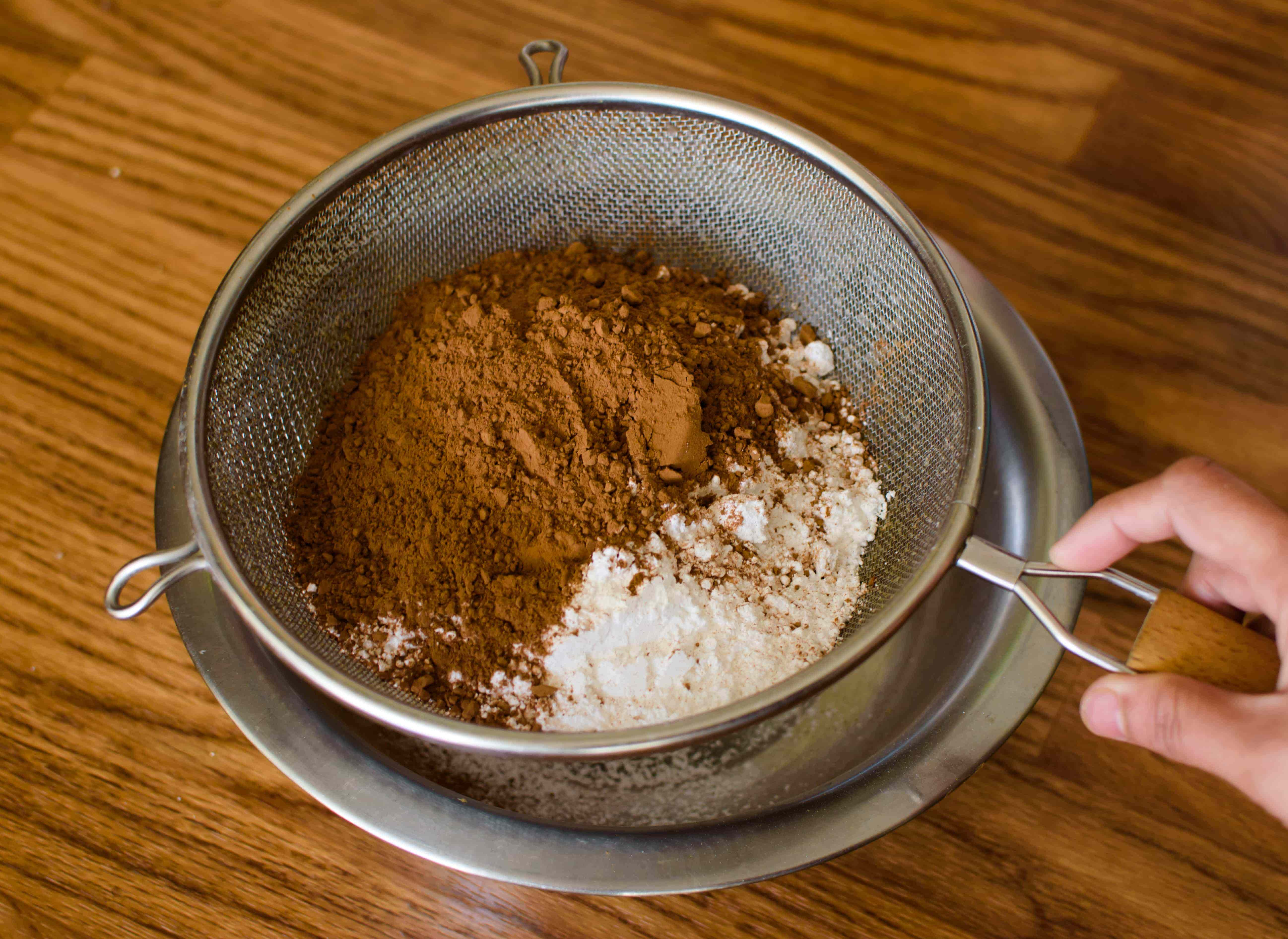 cocoa and sugar sifted | poojascookery.com