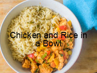 Chicken and Rice in a Bowl| poojascookery.com
