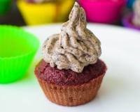 Beetroot Cup Cakes With Oreo Frosting| poojascookery.com