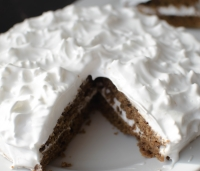 Moist Vanilla Coffee cake With Egg White Frosting | poojascookery.com