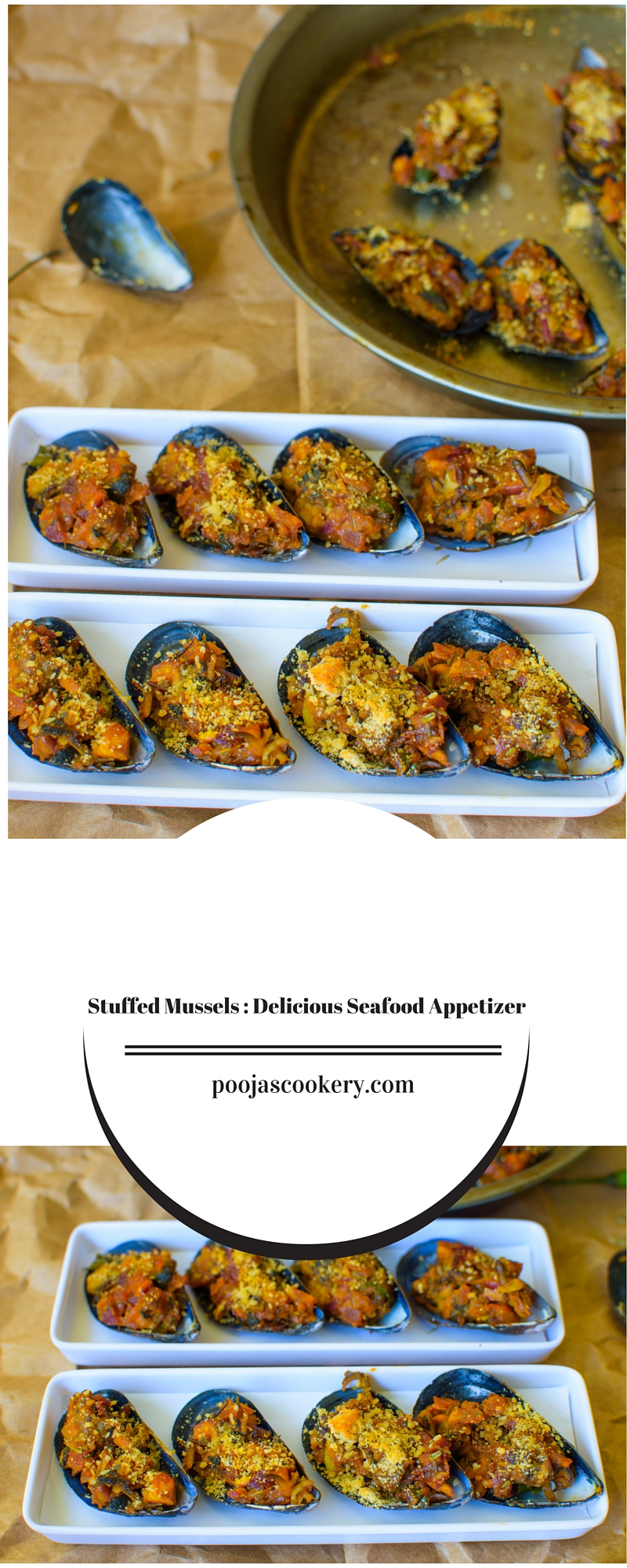 how to cook stuffed mussels