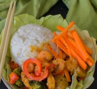 Asian Shrimp and Veggie Bowl | poojascookery.com