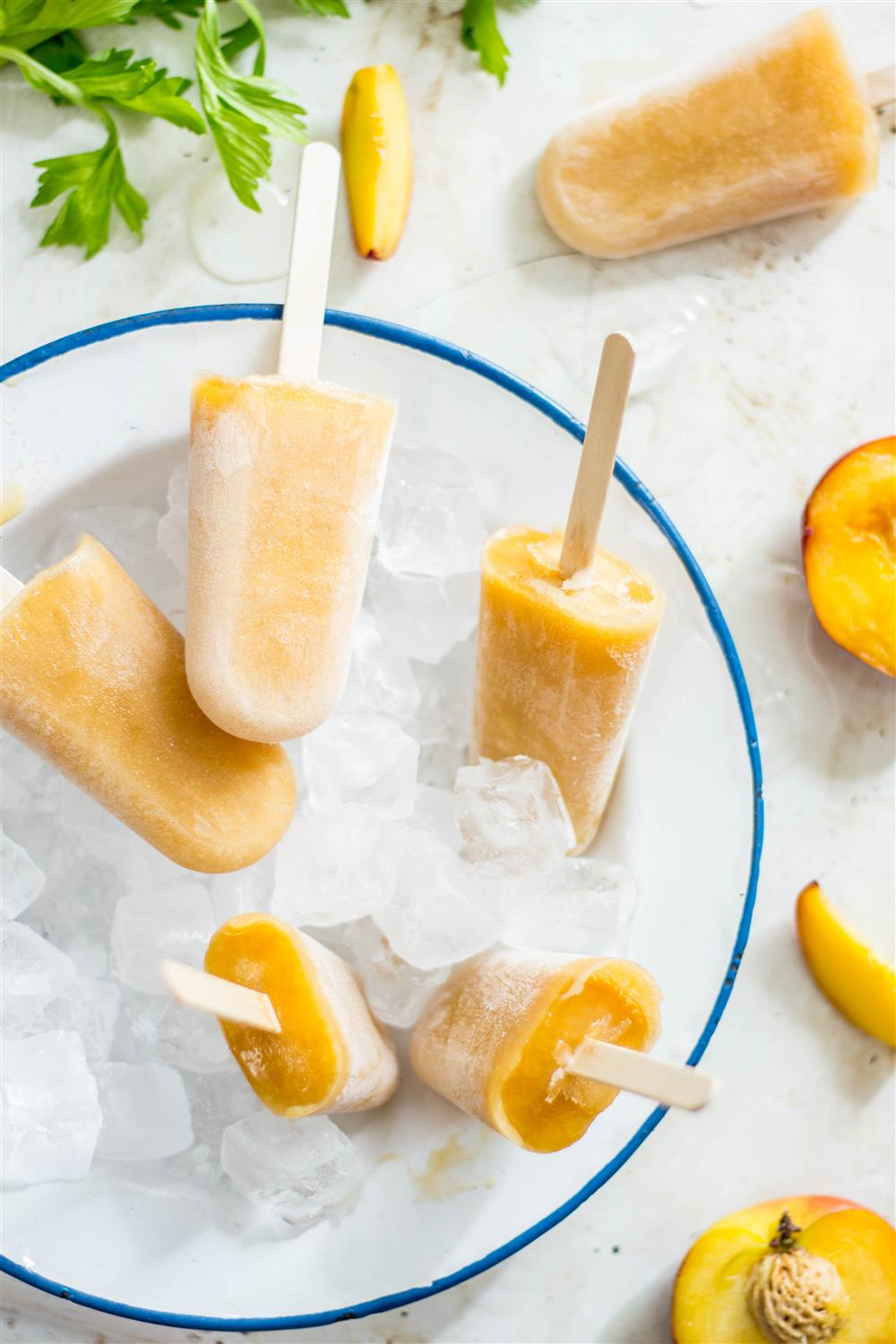 Peach and Celery Ice Lollies | poojascookery.com