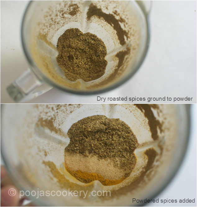 Grind with spice powder| poojascookery.com