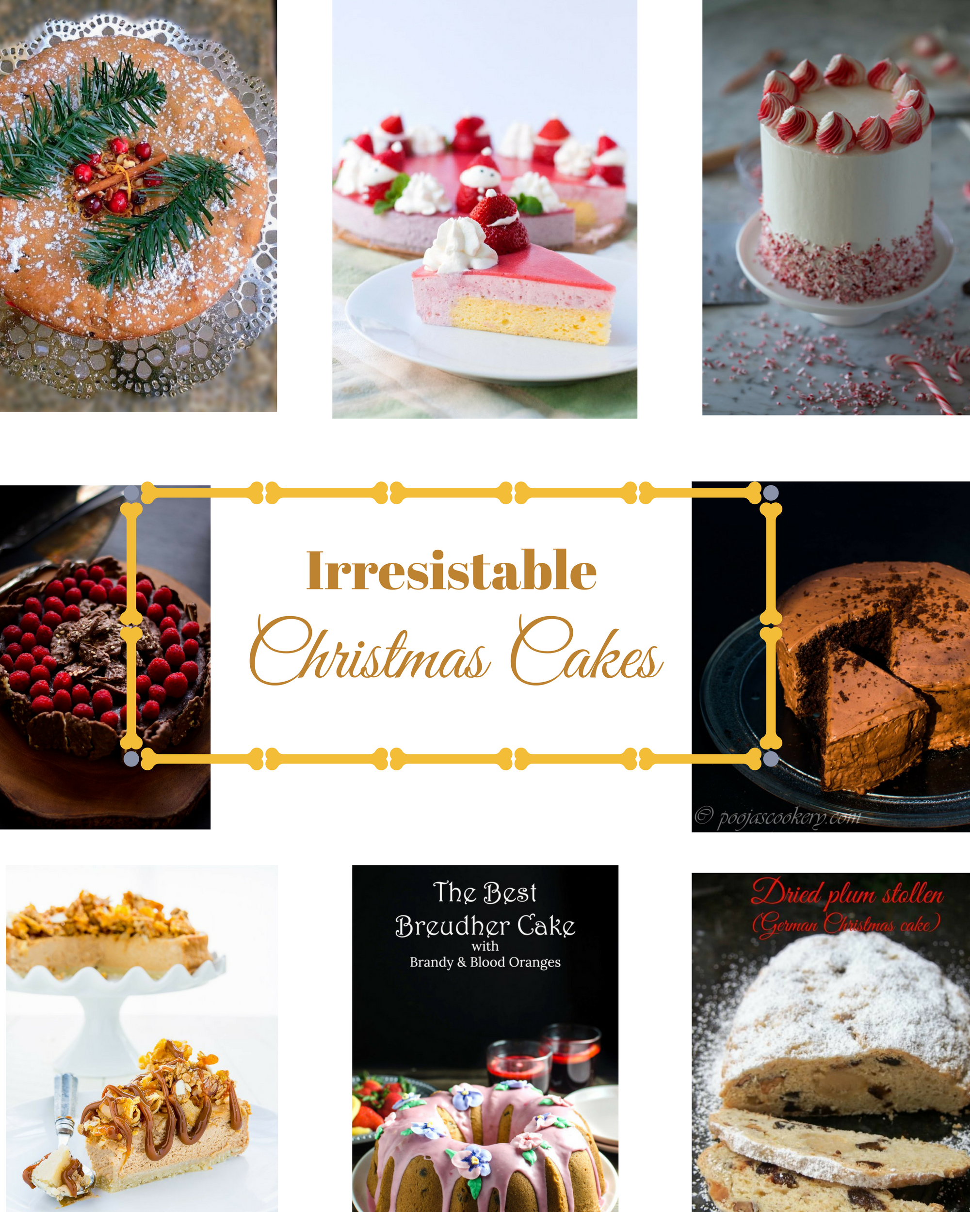 Irresistable Christmas Cakes|poojascookery.com