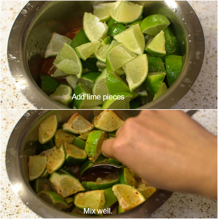 Mix lime with spice mixture
