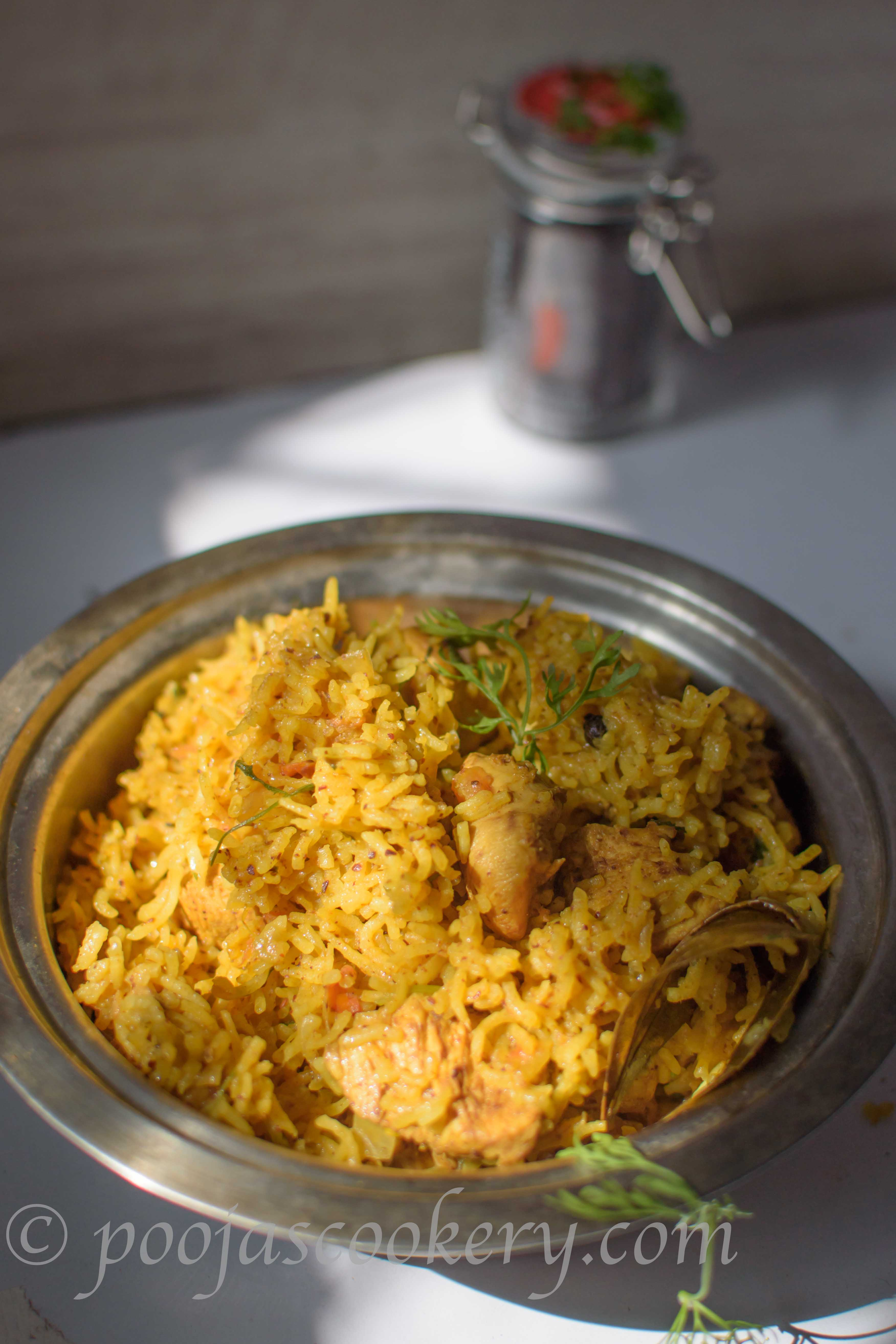 Chicken Chipotle Pulav|poojascookery.com