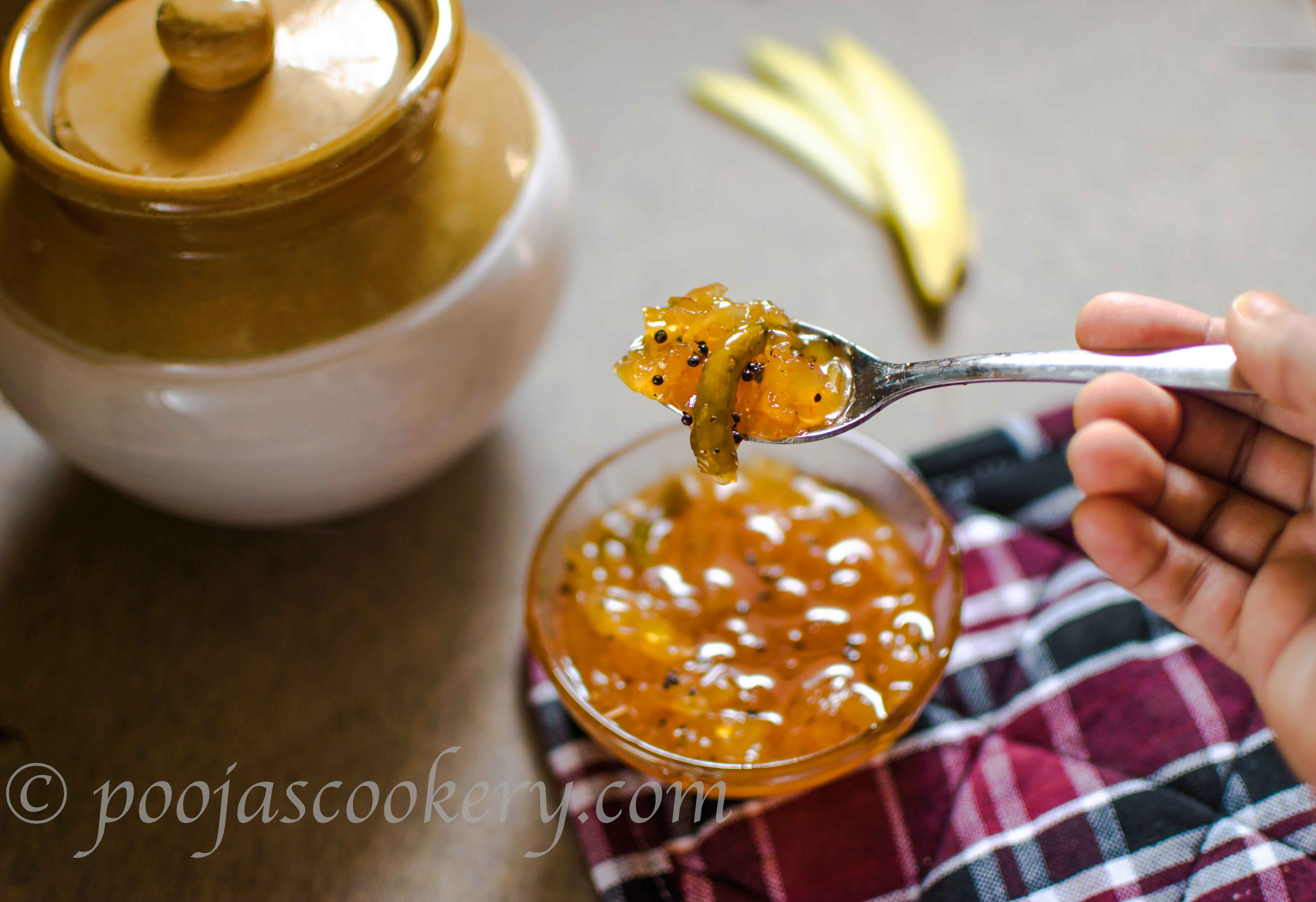 Kairiche god lonche/Raw Mango sweet & Sour pickle|poojascookery.com