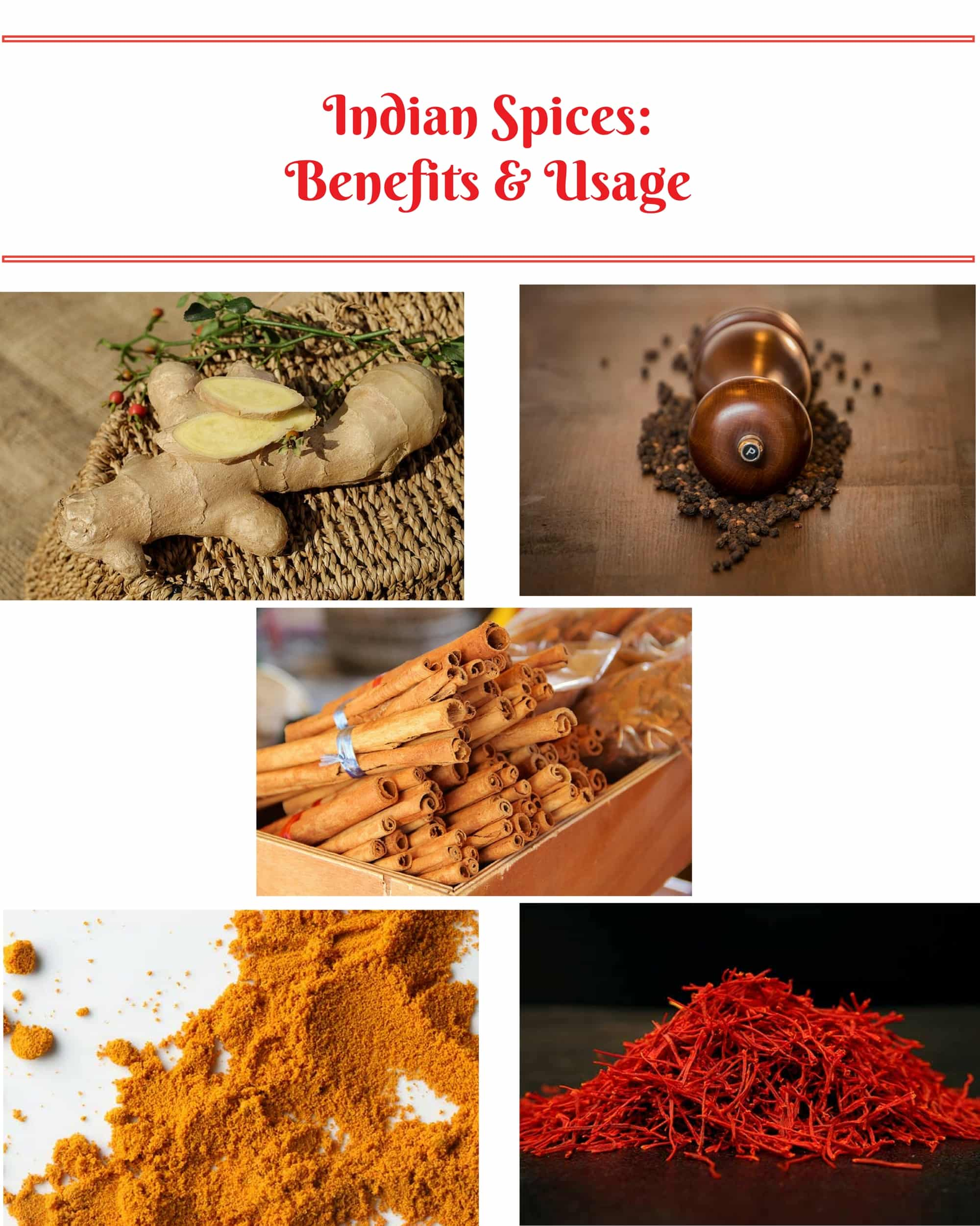 Indian Spices: Benefits and Usage|poojascookery.com
