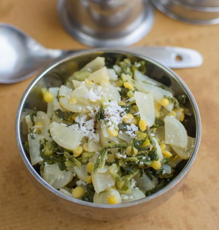 Goan vegetarian lunchdinner archives poojas cookery mulyachi bhajiradish vegetable forumfinder Images