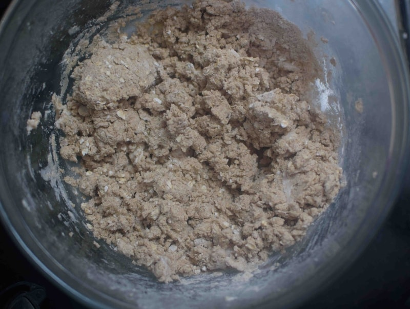 Homemade Multigrain Biscuit : Cookie mixture prepared