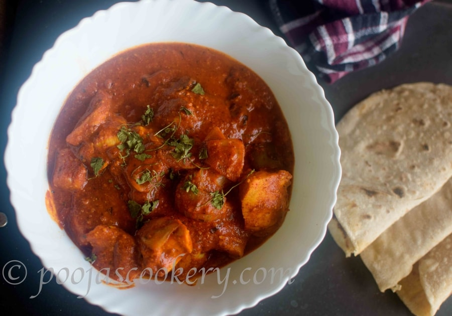 Chicken Tikka Masala using Instant Red curry premix