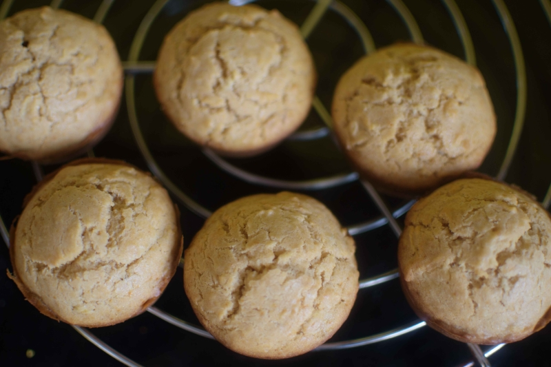 Eggless Apple Cupcakes :Kept on cooling rack
