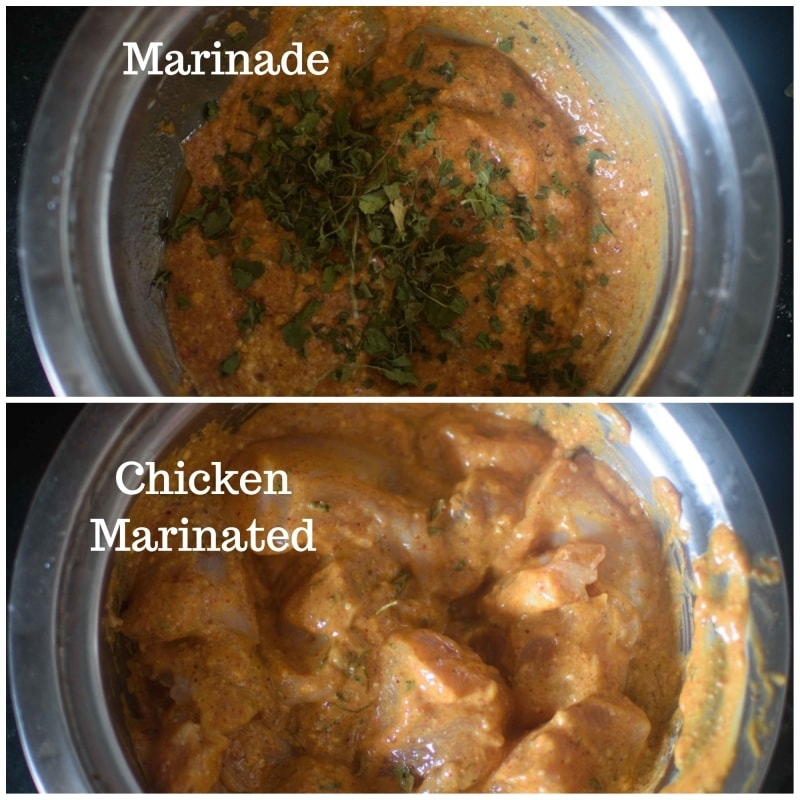 Chicken Tikka Masala using Instant Red curry premix : Marinade