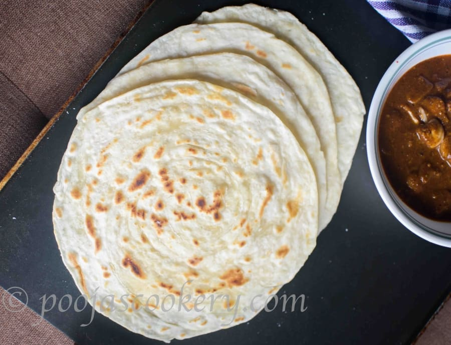 How to Make Lachha Paratha/Soft Homemade Lachedar paratha: Ghee+oil